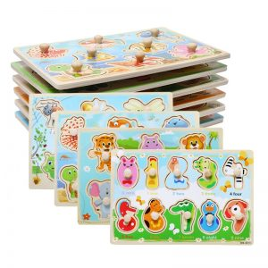 Cartoon Wooden Peg Puzzles