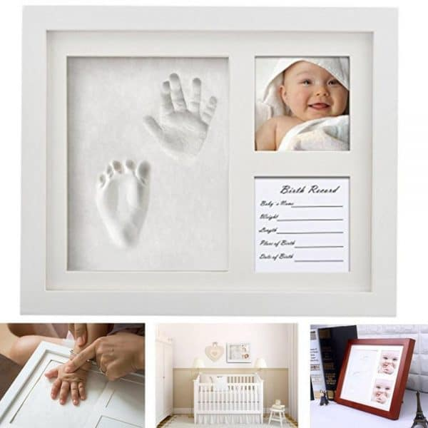 Baby Hand-Print and Footprint Photo Frame