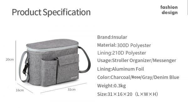 Baby Stroller Diaper Bag