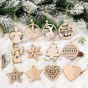 Christmas Tree Wood Decorations