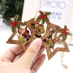Star Printed Christmas Ornaments