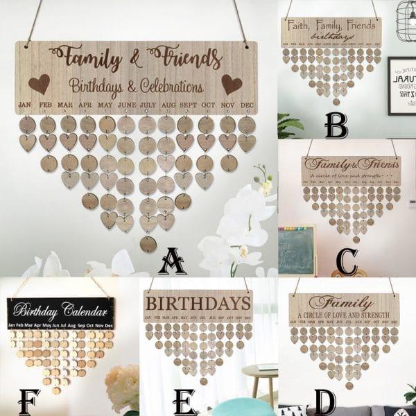 DIY Wooden Family Calendar
