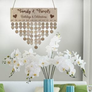 DIY Wooden Family Calendar